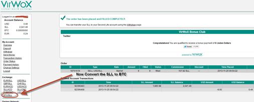 Convert SLL to BTC