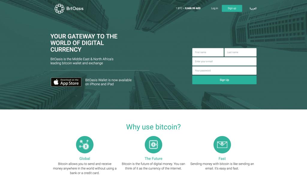 Market platform BitOasis in Saudi Arabia
